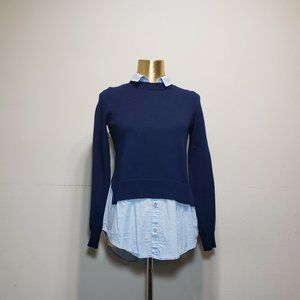 H&M Blue Twofer / Faux Layered Sweater